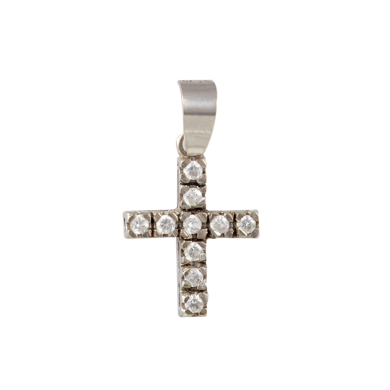Σταύρος (Silver 925°) με Ζιργκόν