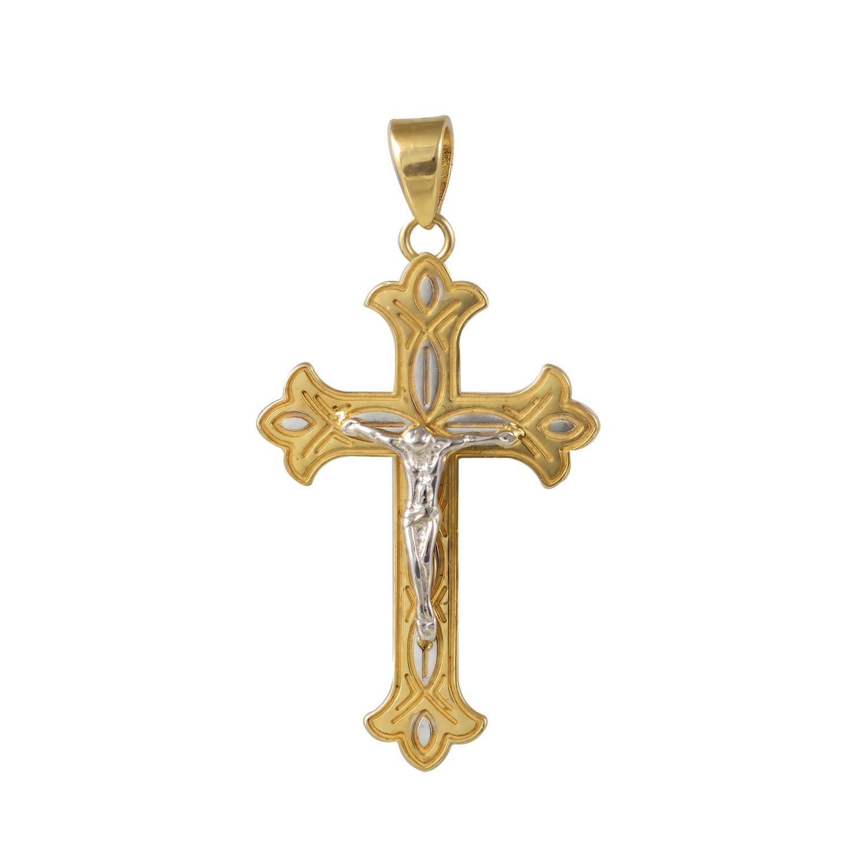 Χρυσός Κ14 Βαπτιστικός Σταύρος