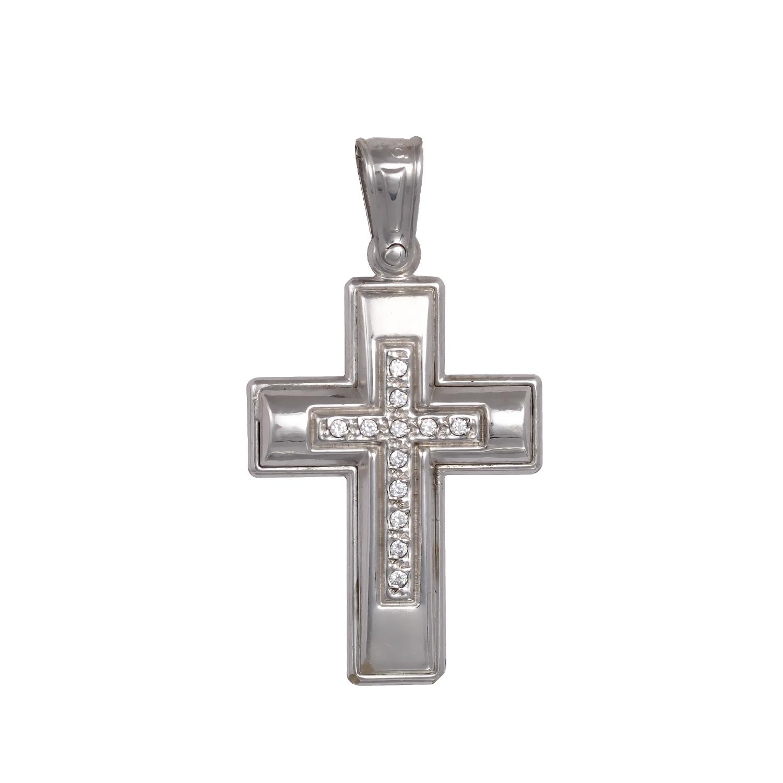 Λευκόχρυσος Βαπτιστικός Σταυρός Κ9