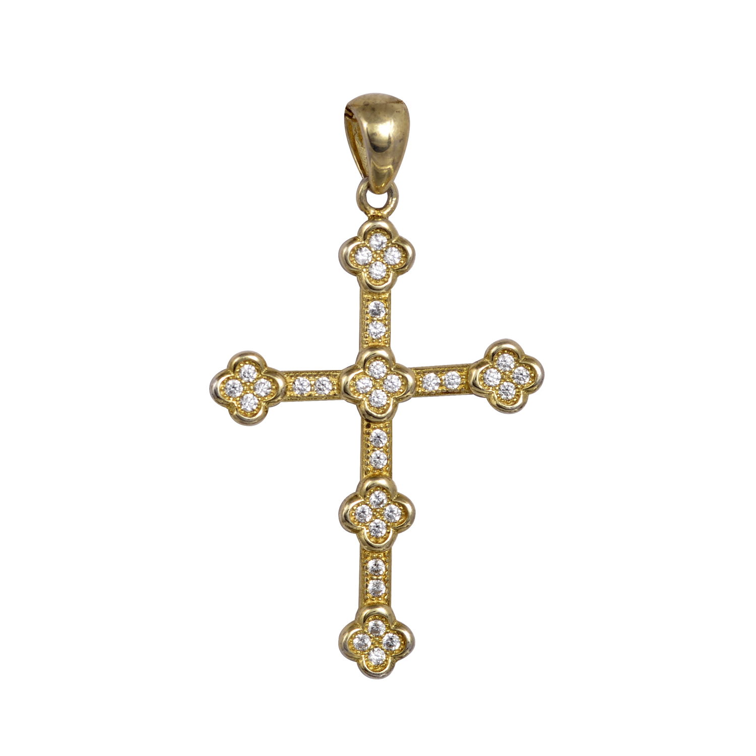 Βαπτιστικός Σταυρός Χρυσός Plated Κ14