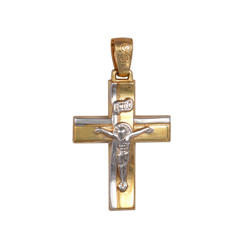 Βαπτιστικός Σταυρός Δίχρωμος Κ14
