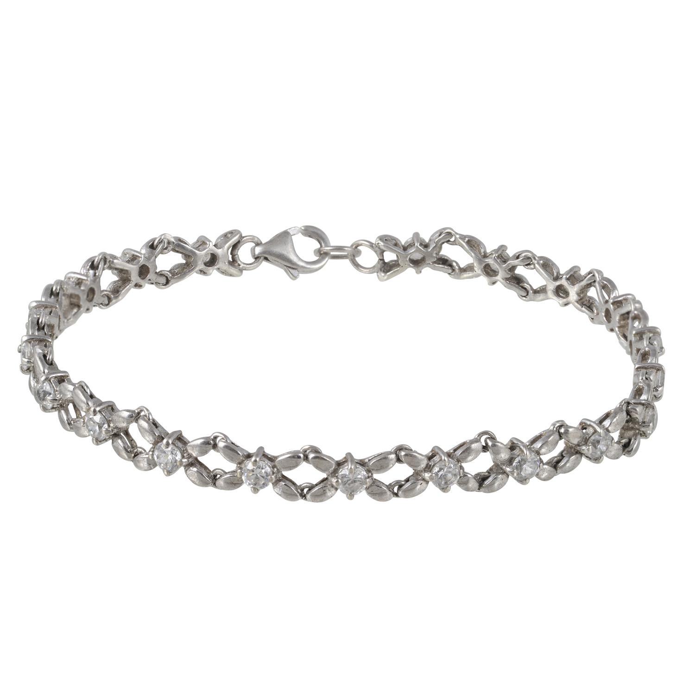 Ασημένιο Γυναικείο Βραχιόλι με Ζιργκον (Silver 925°)