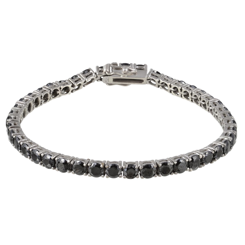 Γυναικείο Σειρέ Βραχιόλι (Riviera) Silver (925°) με Μαύρο Ζιργκον  727f72aead1