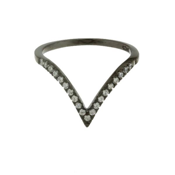 Aσημένιο Δαχτυλίδι (Silver 925) με Ζιργκόν C-3887BP