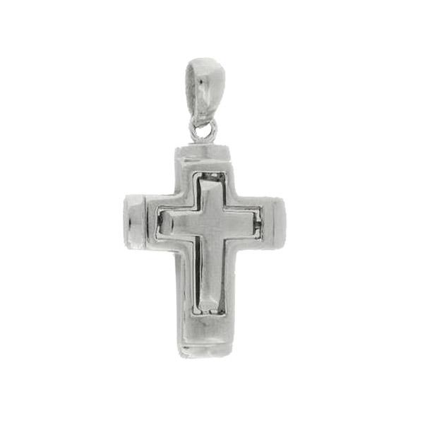 Γυναικείος Ασημένιος Σταυρός (Silver 925) C-554