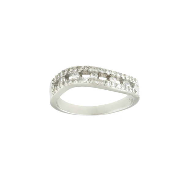 Aσημένιο Δαχτυλίδι (Silver 925) με Ζιργκόν C-B258