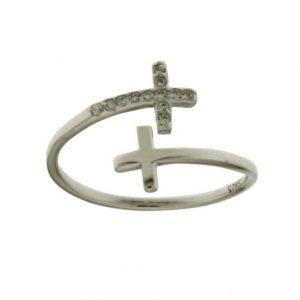 Aσημένιο Δαχτυλίδι (Silver 925) με Ζιργκόν C-B2623RH