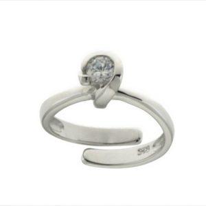 Aσημένιο Δαχτυλίδι (Silver 925) με Ζιργκόν C-B724