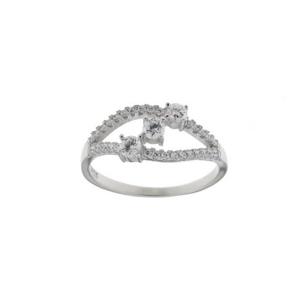 Aσημένιο Δαχτυλίδι (Silver 925) με Ζιργκόν C-C1409