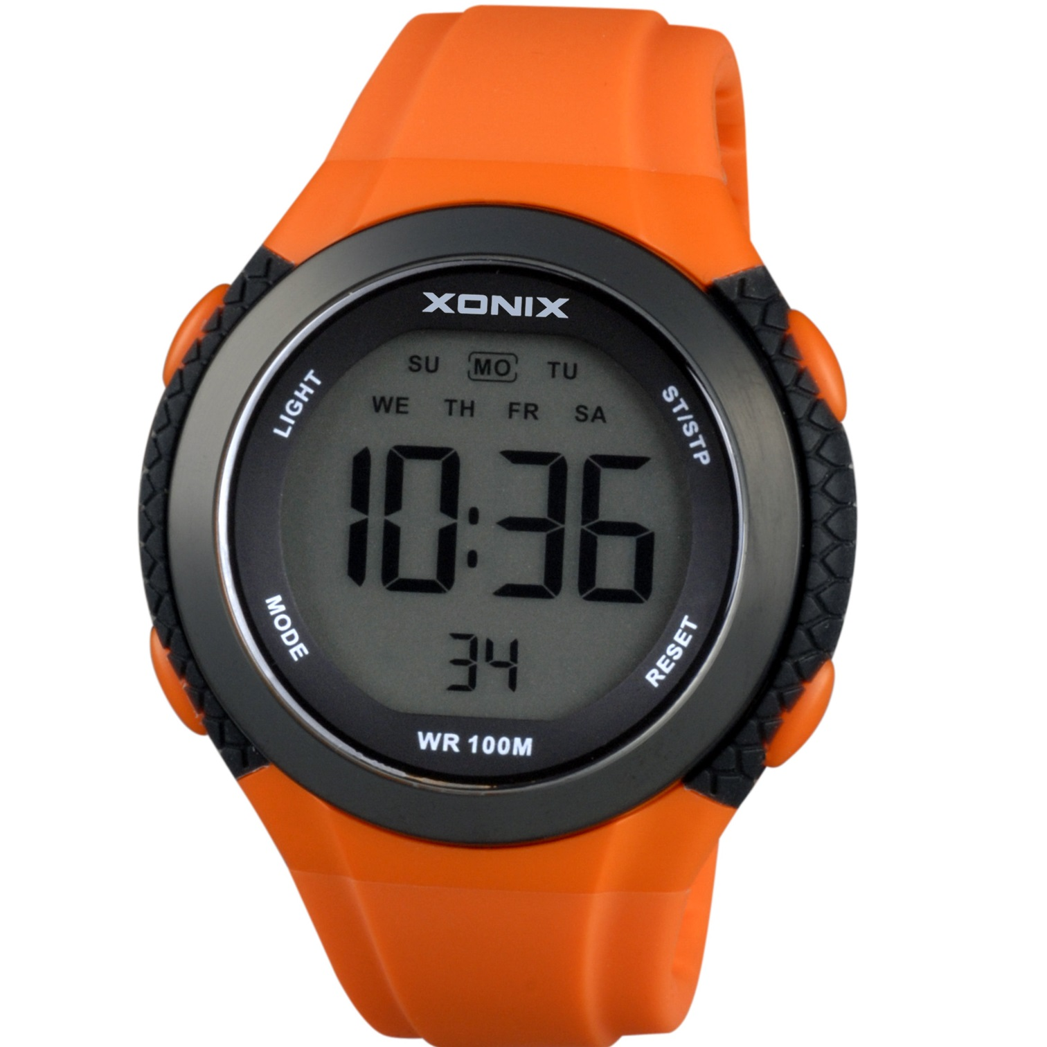 Xonix Chronograph Orange Silicone Strap JC-101