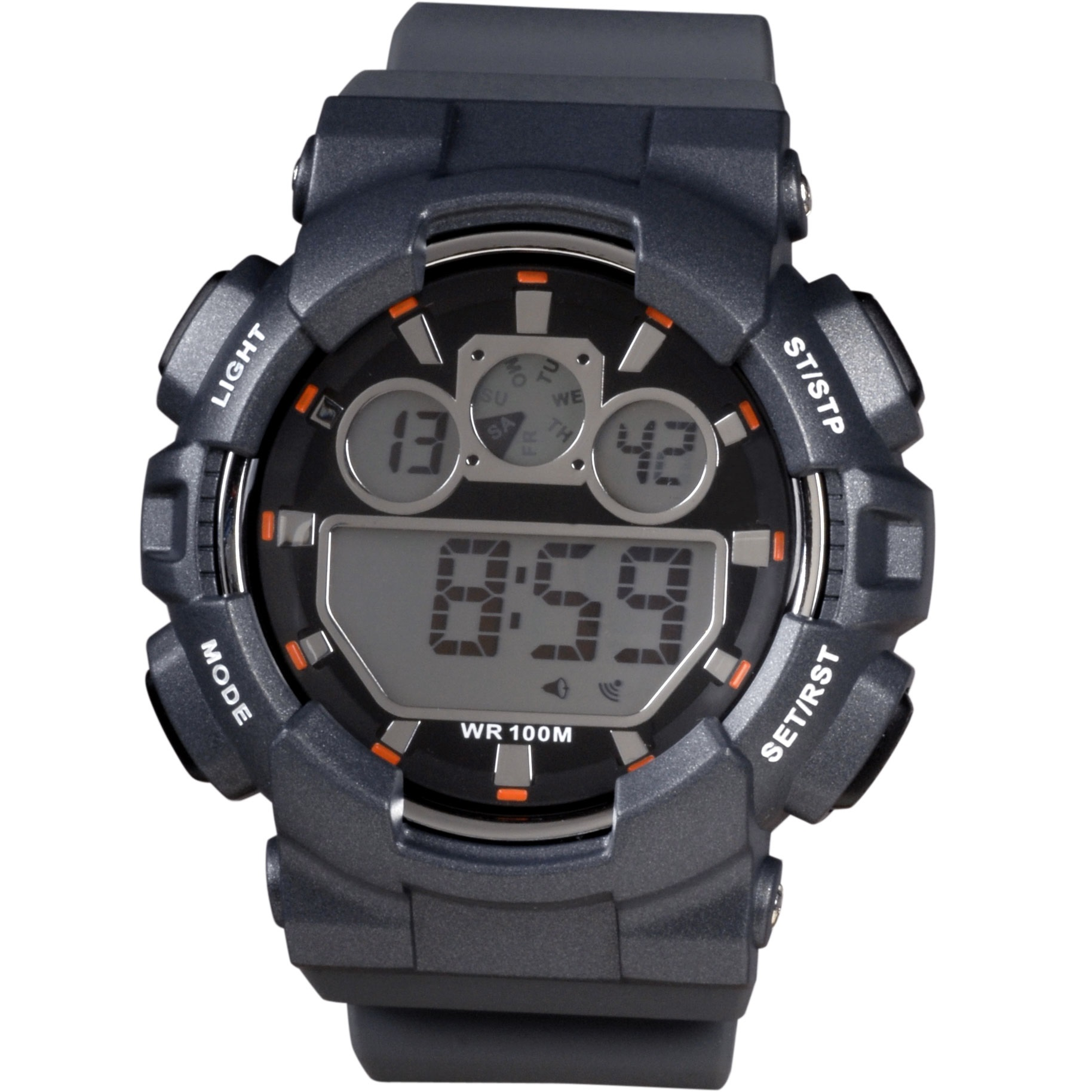 XONIX Digital Grey Rubber Strap JL-006