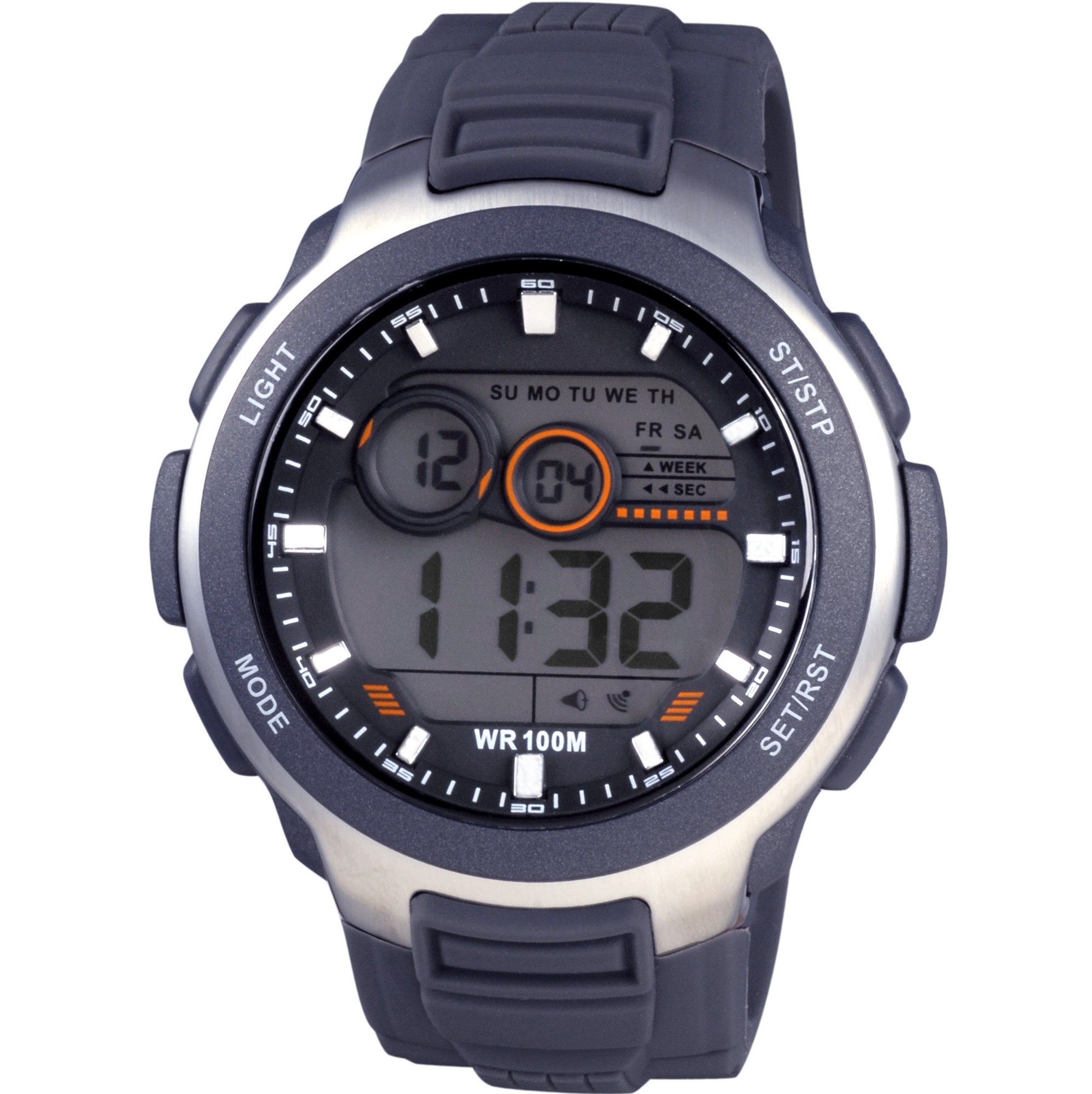 Xonix Digital Grey Rubber Strap JM-005
