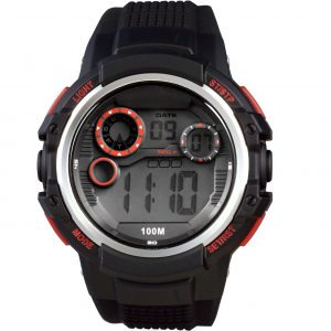Xonix Digital Black Rubber Strap JP-006