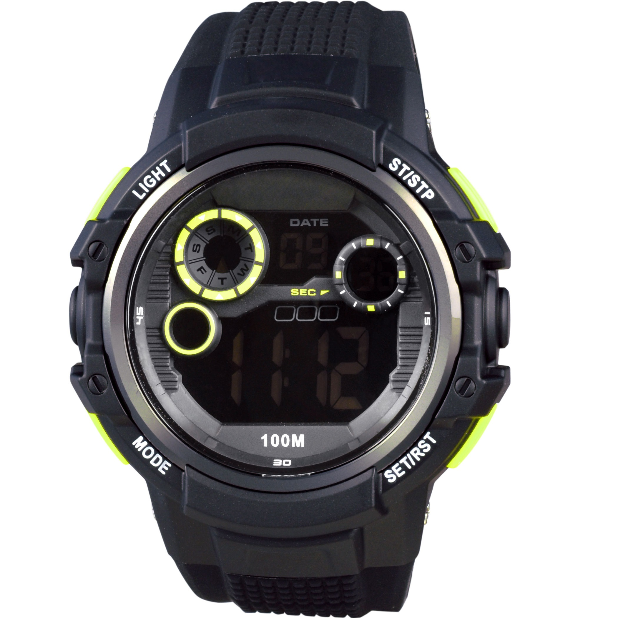Xonix Digital Black Rubber Strap JP-007