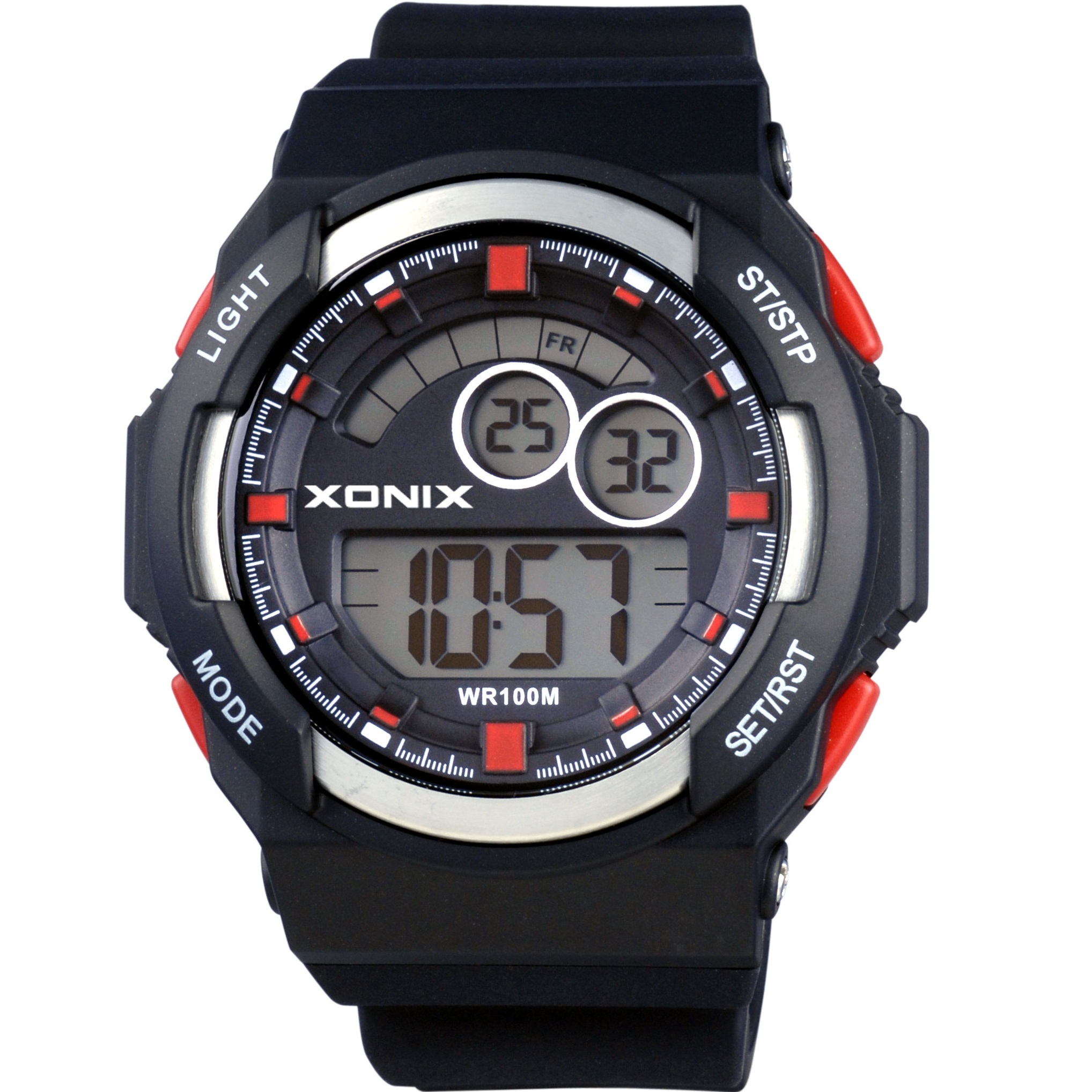 Xonix Digital Black Rubber Strap JS-A03