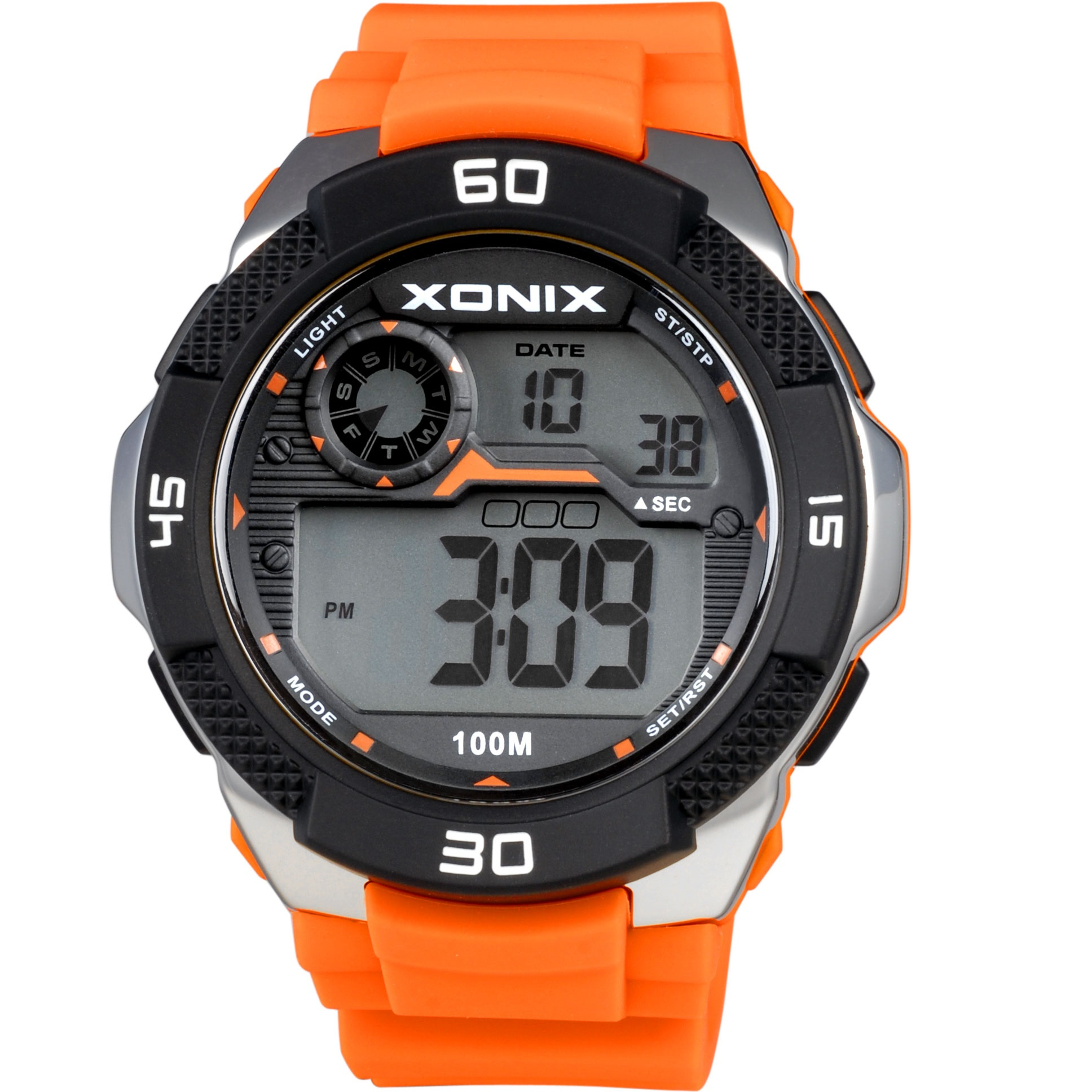 Xonix Digital Kids Orange Rubber Strap JW-001