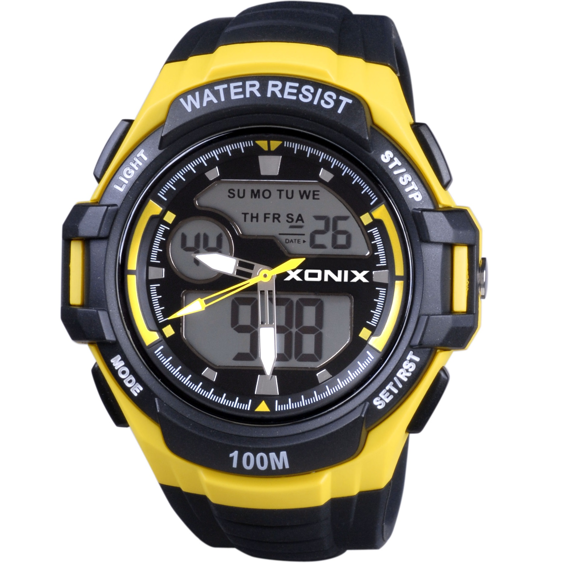 Xonix Digital Black Rubber Strap MK-003