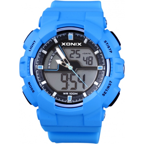 Xonix Digital Blue Rubber Strap MV-003