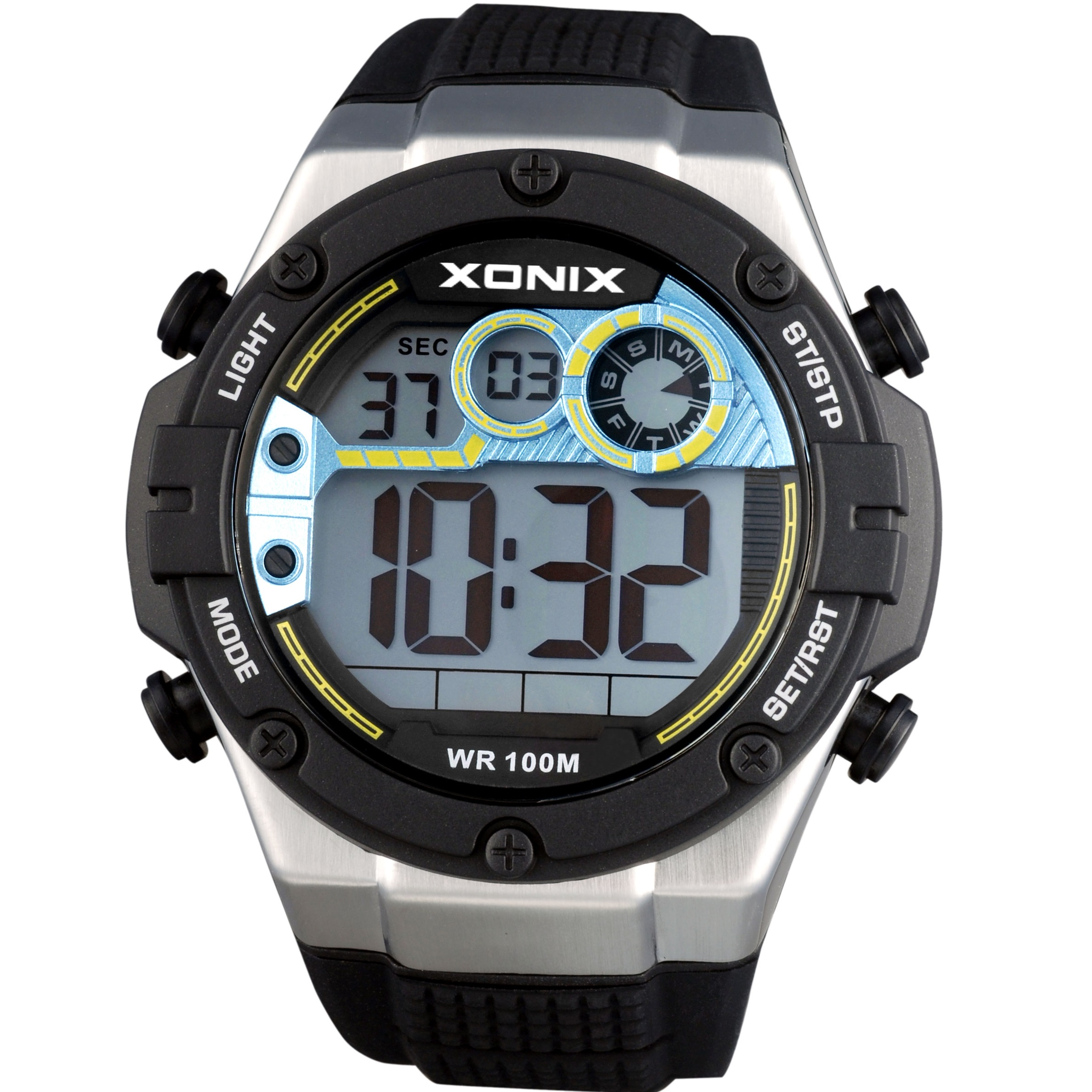Xonix Digital Kids Black Rubber Strap NL-005