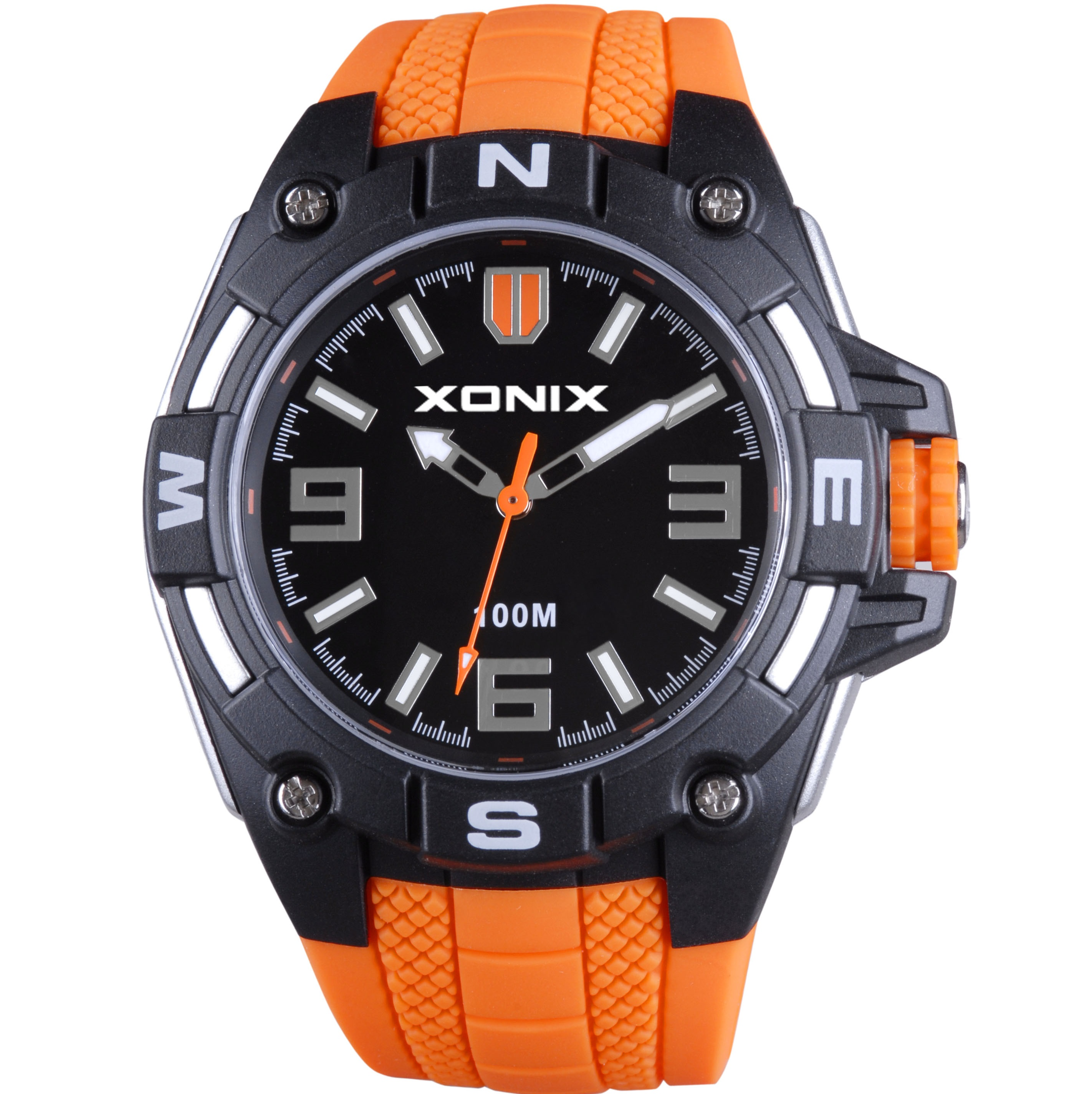 Xonix Orange Rubber Strap ZI-002