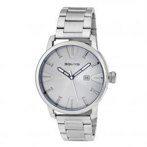 3GUYS Logo 3GUYS Silver Stainless Steel Bracelet