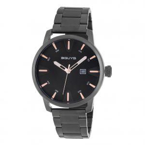 3GUYS Black Stainless Steel Bracelet
